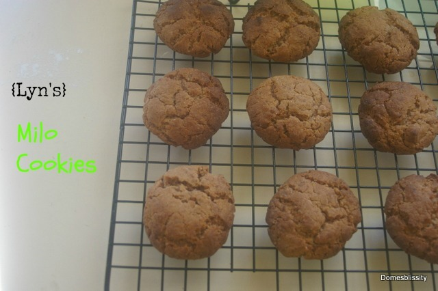 {Lyn's} Milo Cookies and all about tuckshop