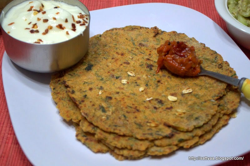Masala Oats rotti - super food rolled into super yummy rotti