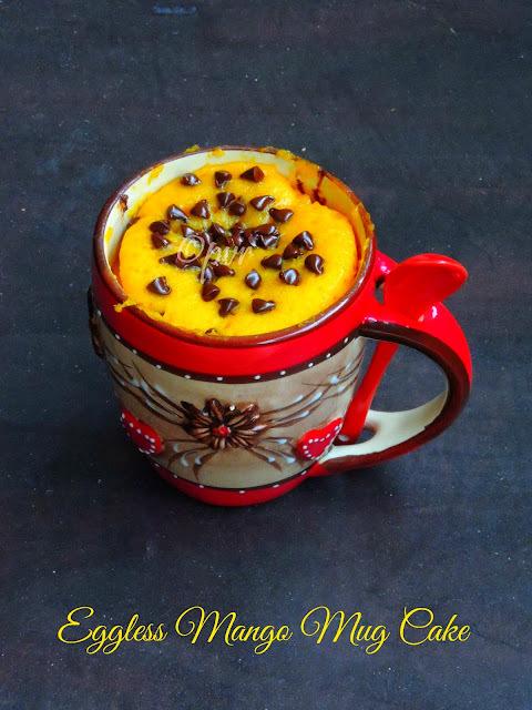 Eggless mango cake microwave recipesmyTaste.in