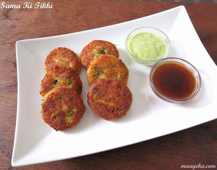 Sama and Potato Tikki -Navratri Special