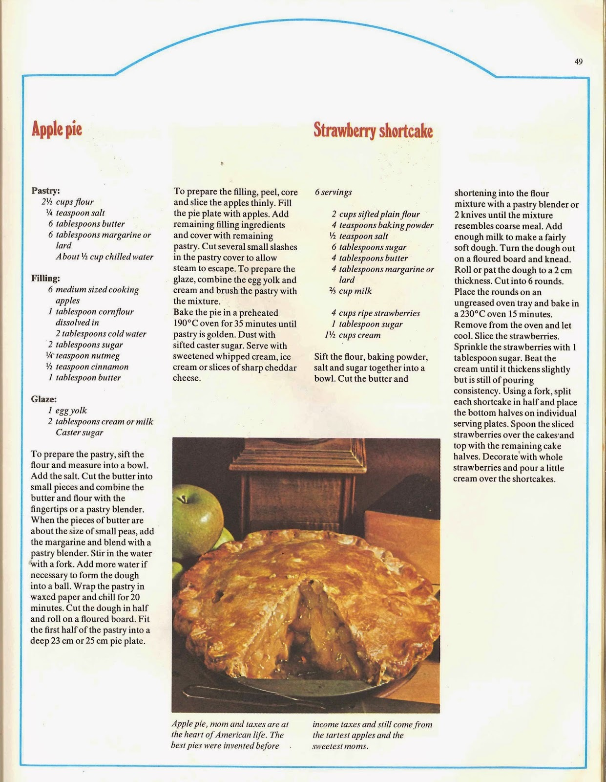 ※ American Cooking - (An Australian Take) Apple Pie / Strawberry Shortcake