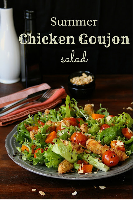 Summer Chicken Goujon Salad