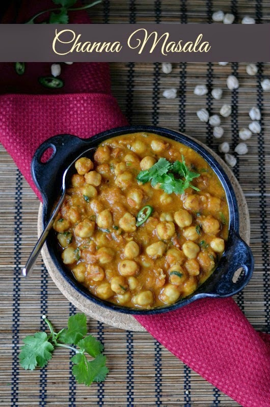 Channa Masala -No onion-garlic Version