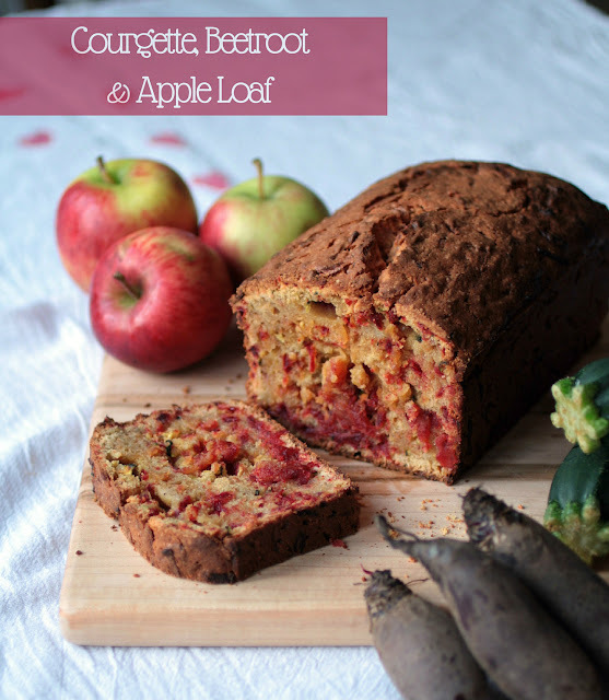 A Cake for Autumn: Courgette, Apple & Beetroot Loaf