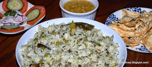 Peas Pulav - throw in some carbs and proteins together for a delightful, one pot meal