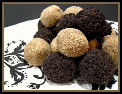 Black and Tan Mousse Truffles