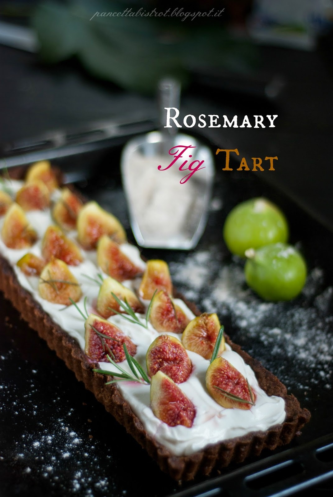 Rosemary Fig Tart : la nostra prima re-cake!