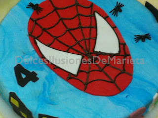 TARTA DE SPIDERMAN -Fondant-
