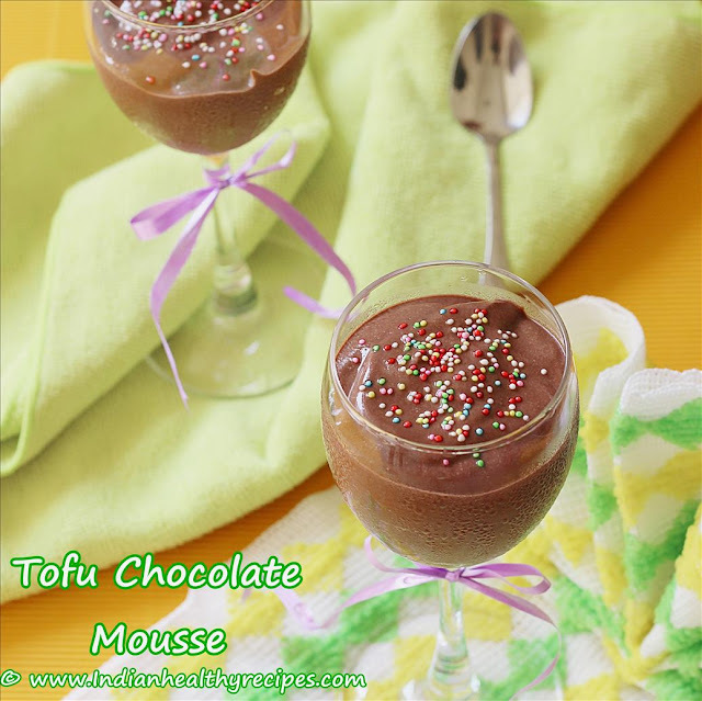 eggless chocolate mousse using cocoa powder