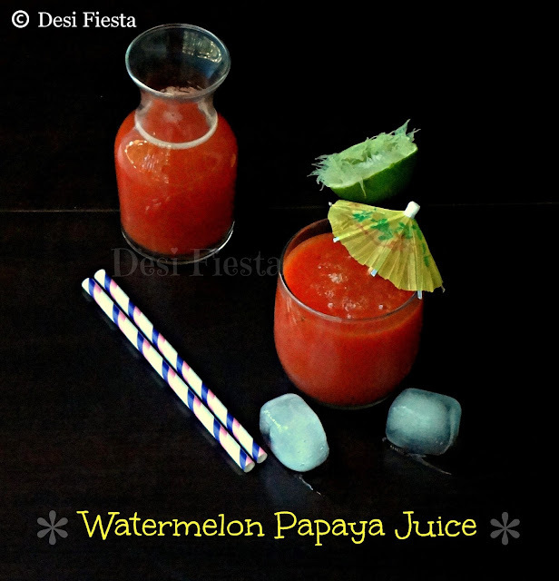 Watermelon Papaya Juice