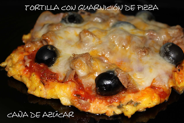 Tortilla con guarnición de pizza