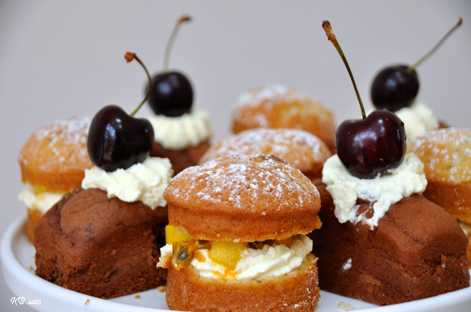 Mini Black Forest & Tropical Sandwich Cakes
