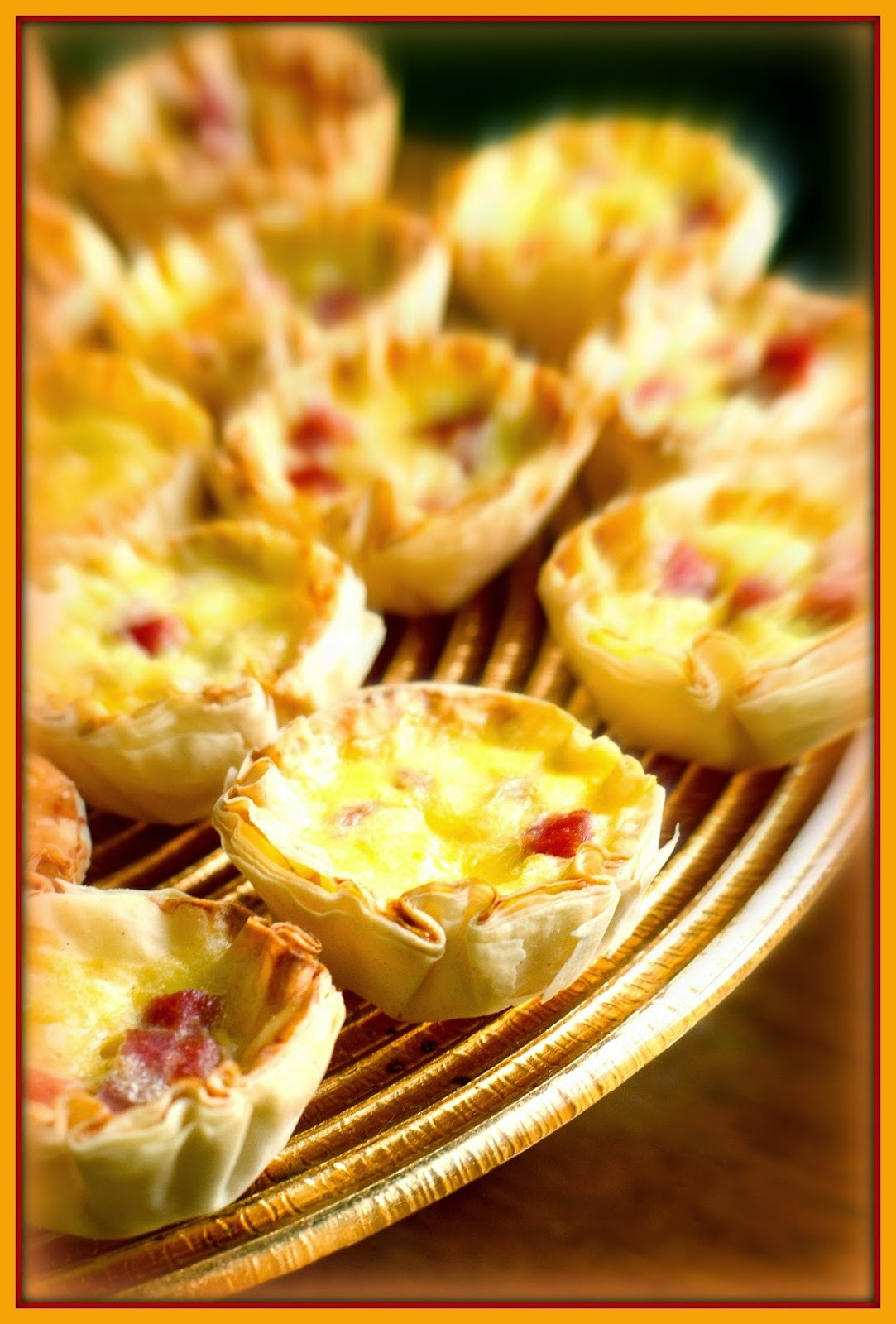 Mini quiche de omelete