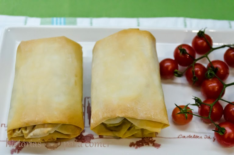 Embrulhos de legumes (tipo crepes chineses)