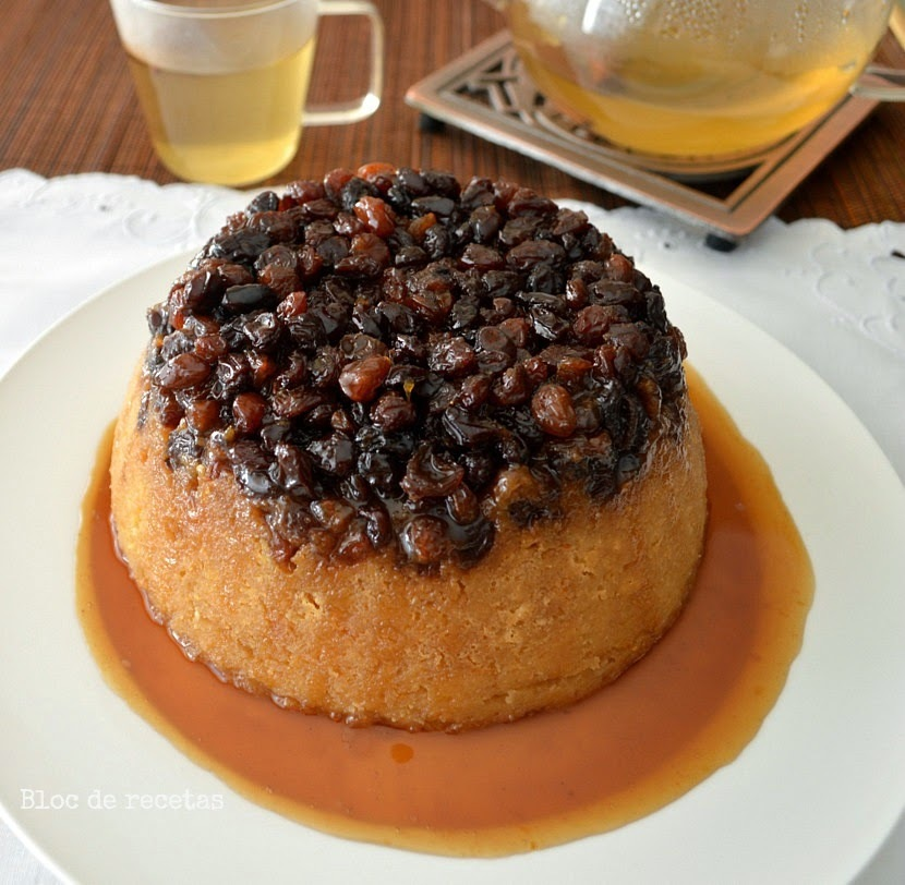 Pudin de pan con pasas y miel - Spotted Dog Pudding