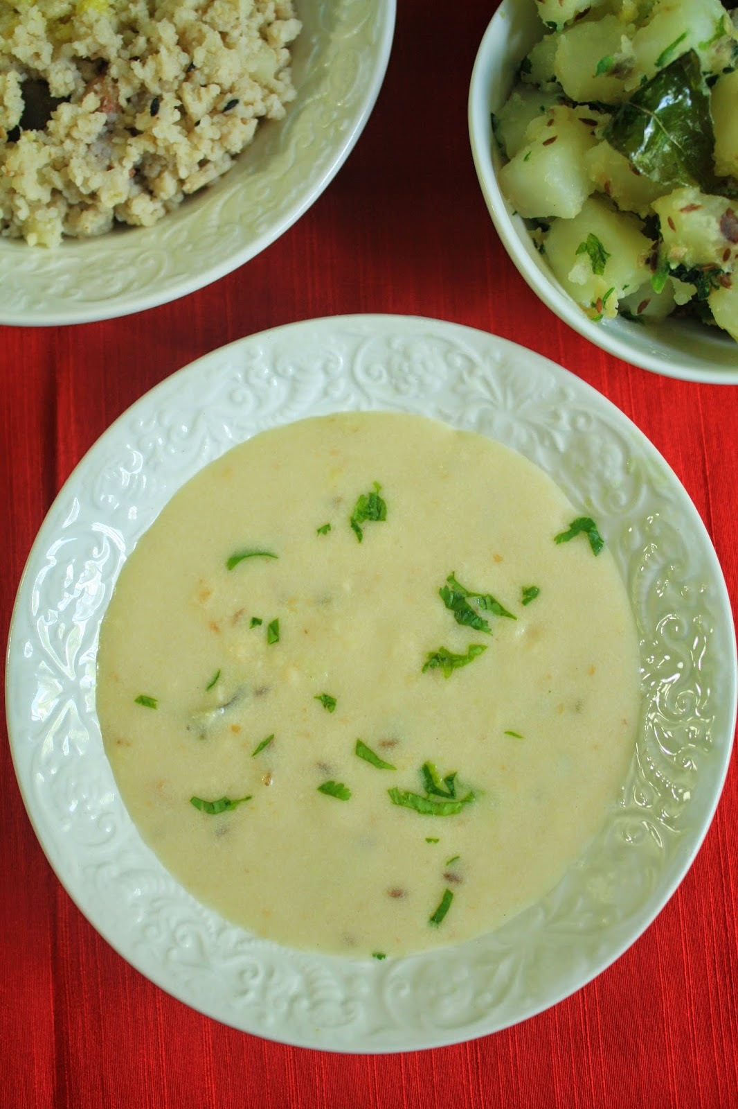 Rajgira Flour Kadhi for Vrat or Fasting