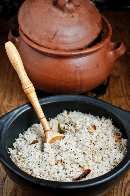 Cashew Rice, Perfect Partner For A Vegetable Stew.