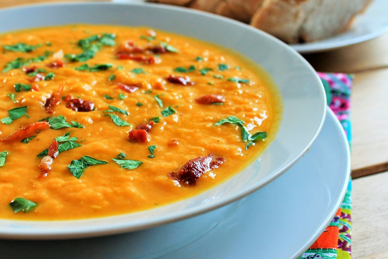 Roasted Butternut Squash & Bacon Soup Recipe