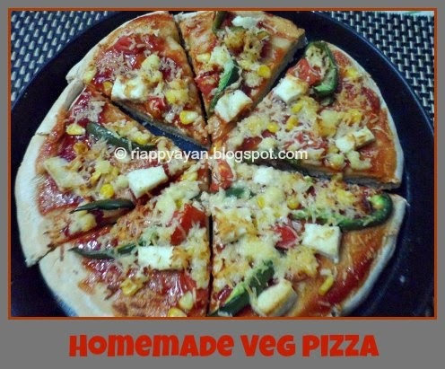 One Veg and Non-Veg Pizza from scratch