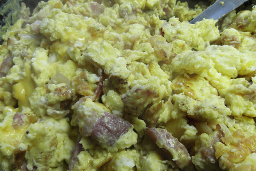 Bacon Egg and Cheese Scramble