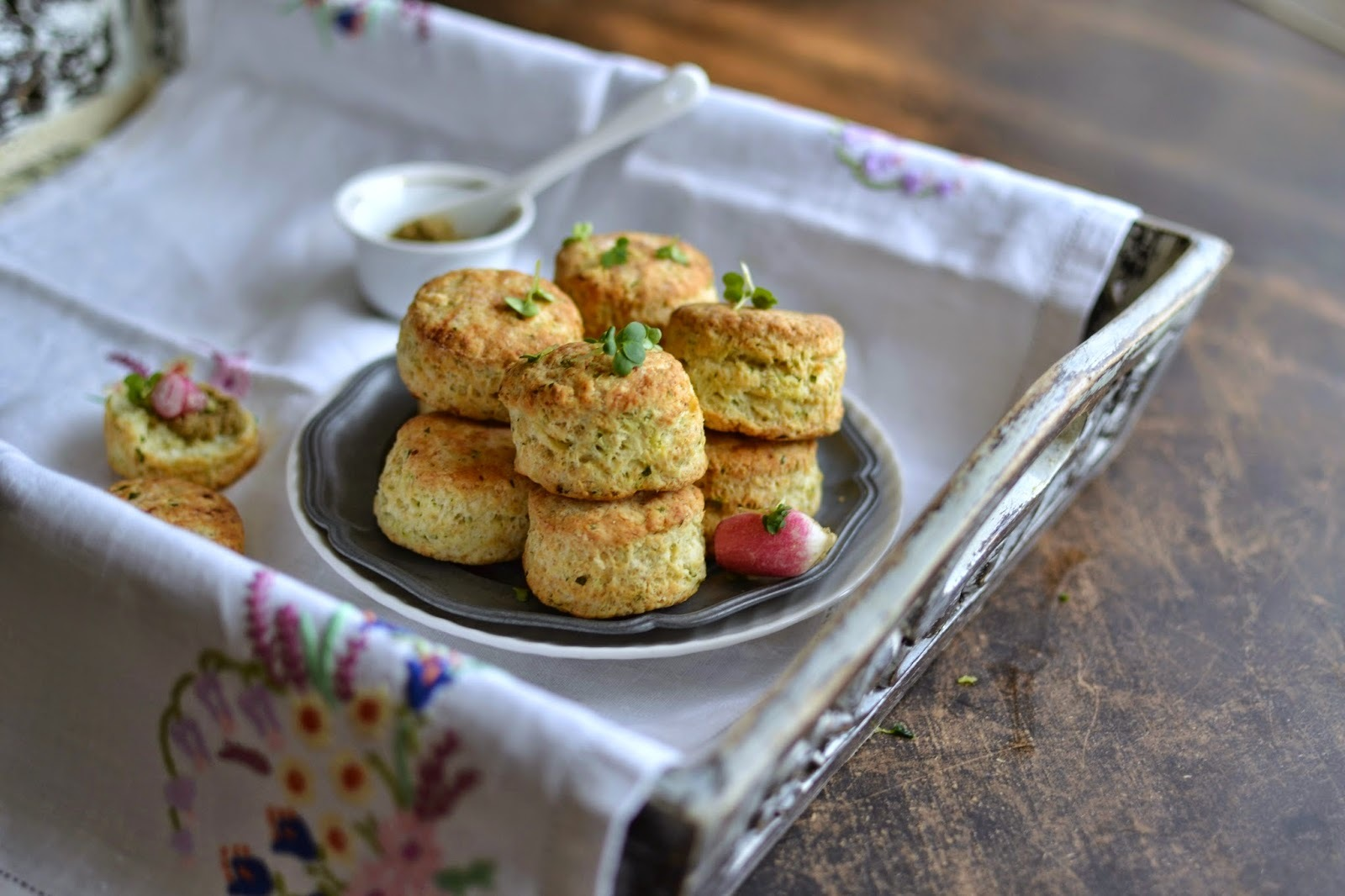 Cottage Cheese and Herbs Scones