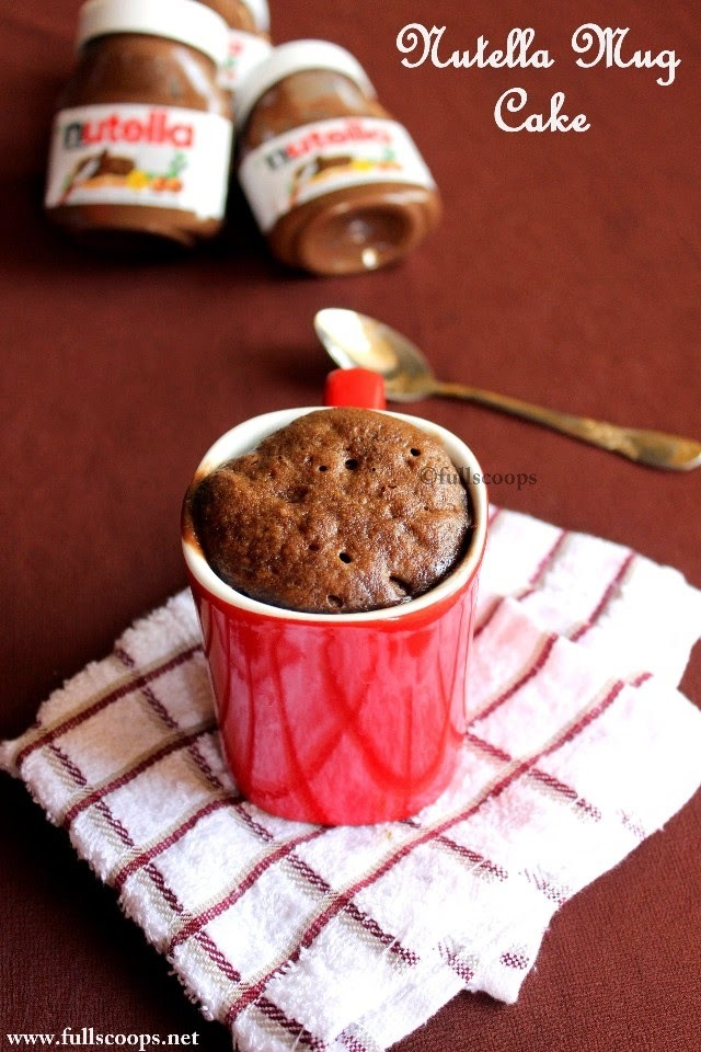 Easy Nutella Mug Cake