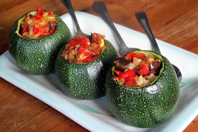 Ratatouille Stuffed Courgette Balls