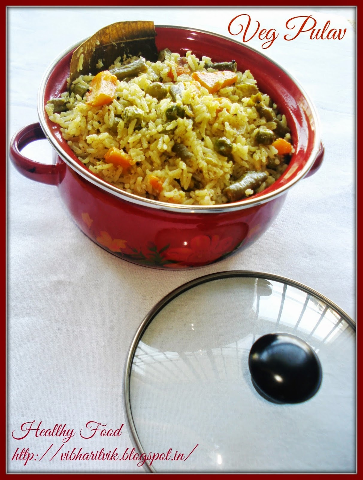 VEGETABLE PULAO / VEG  PULAV /SPICY RICE DISH / SOUTH INDIAN VEG RICE RECIPE