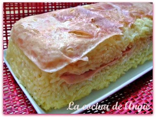 PASTEL DE ARROZ Y JAMÓN AL CURRY