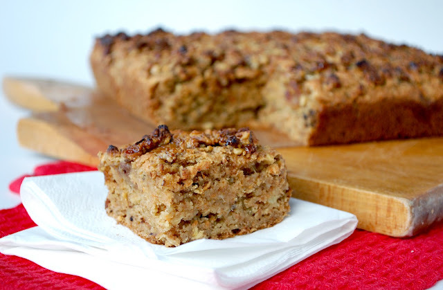 Maple walnut cake with parsnip
