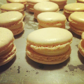 Macarons med passionscreme
