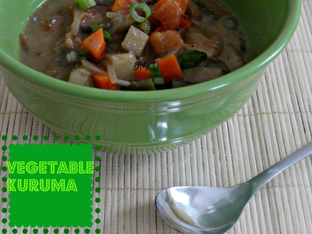 Vegetable kuruma/Vegetable stew/Nococonut kuruma