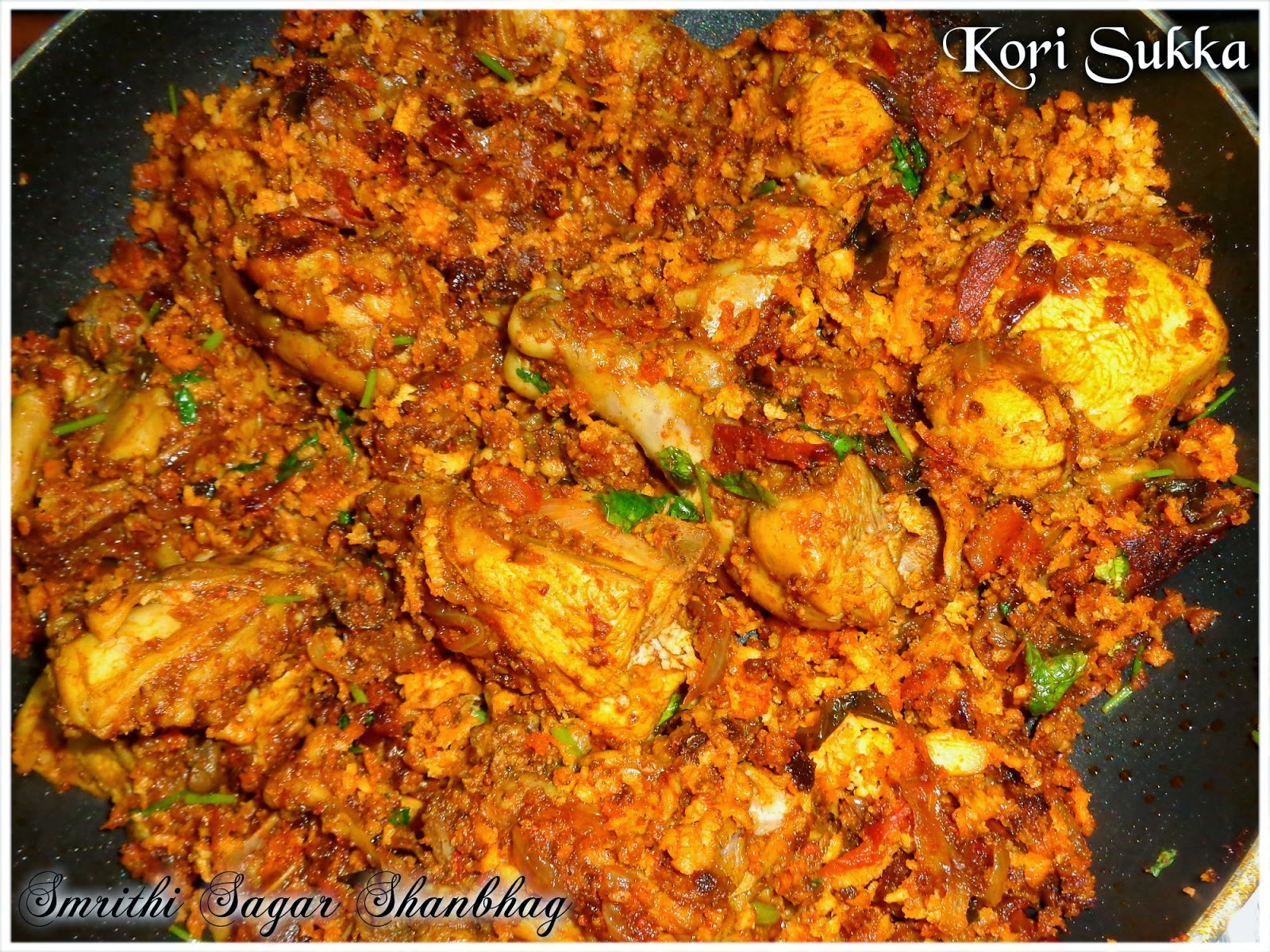 Chicken Sukka/Kori Sukka : A Manglorean Chicken Dry curry
