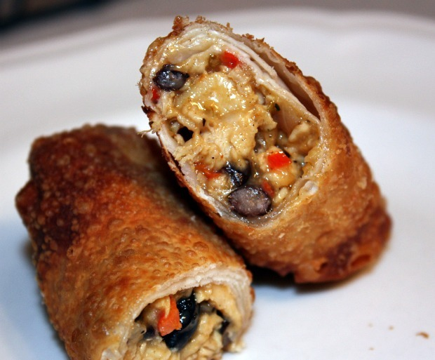 Chicken Taco Egg Rolls