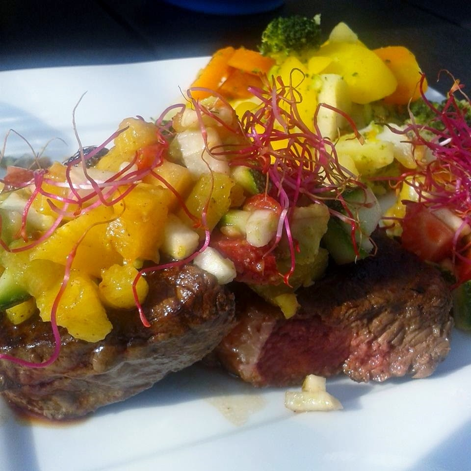 Sundere steak ala Maria med avocado-ananas relish