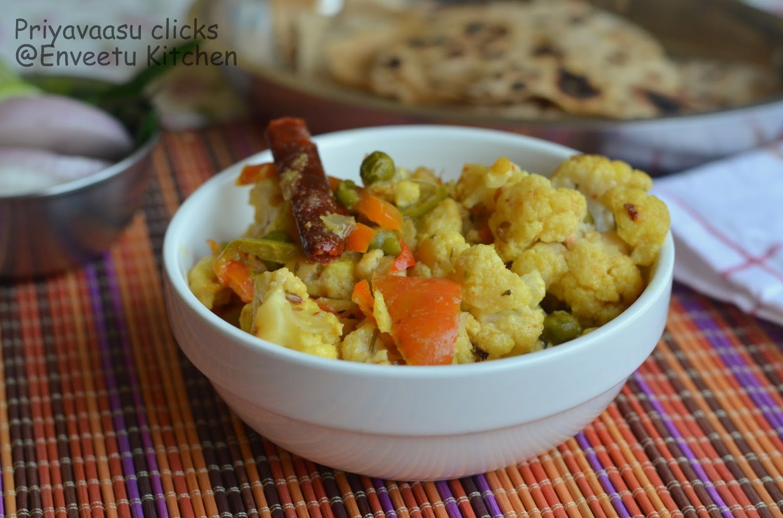 Tandori Gobi/Cauliflower - Side-dish for Roti/Chapathi