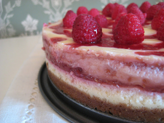 Hallonripplad Cheesecake