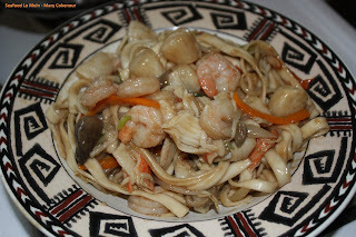 chinese garlic seafood combination