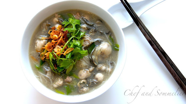 Oyster Mee Sua (Rice Vermicelli)