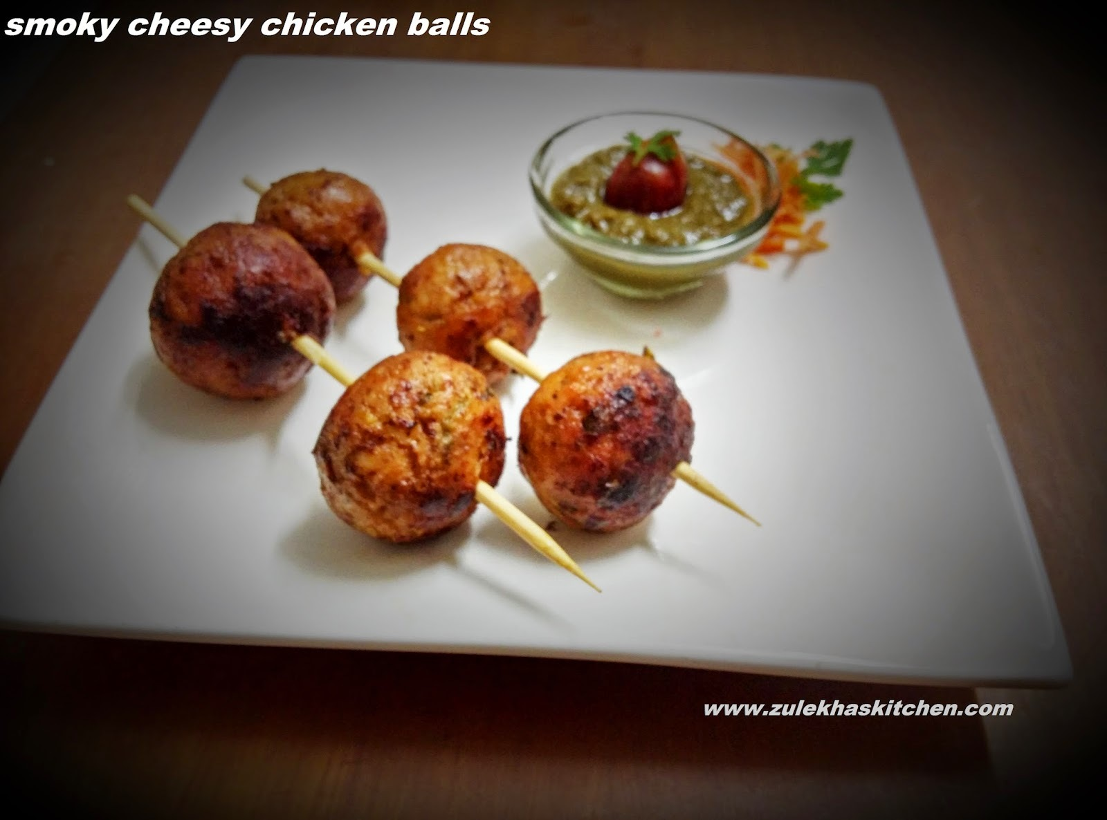 Recipe of smokey cheesy chicken balls