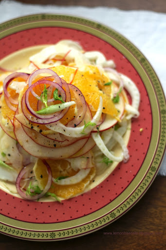 CARPACCIO Z POMARANCZY, JABLKA I FENKULA - ORANGE, FENNEL AND APPLE CARPACCIO