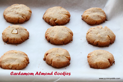Cardamom Almond Cookies ( No Egg )