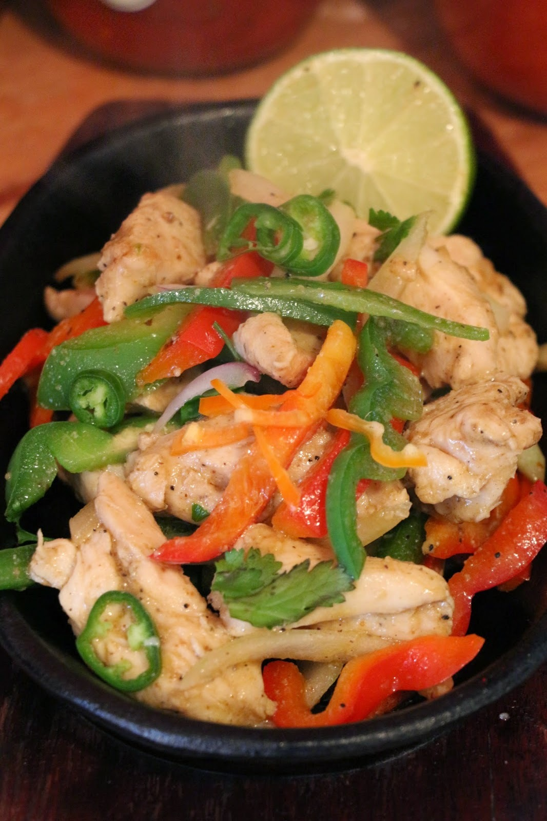 CHICKEN LIME AND CORIANDER FAJITAS