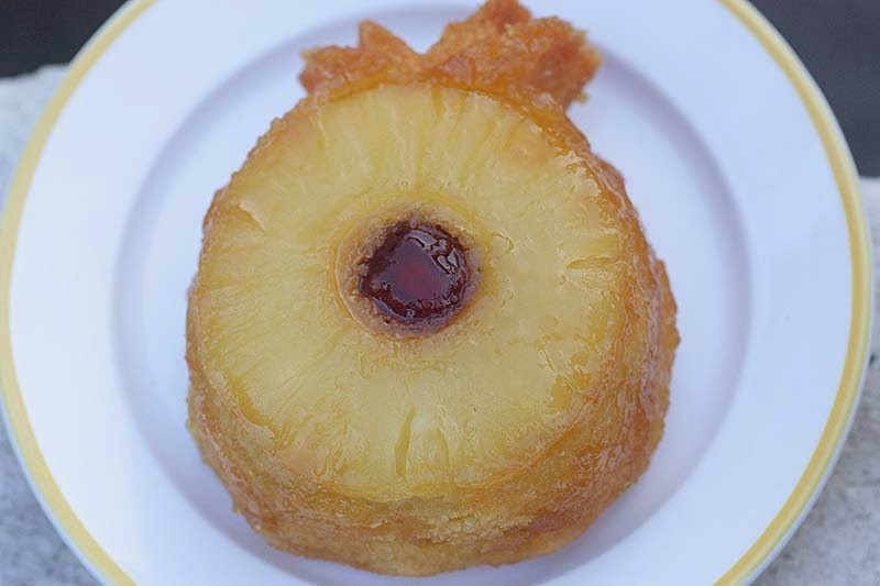 Vegan Individual Upside Down Pineapple Cakes
