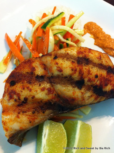 Grilled Spicy Wahoo Fillet