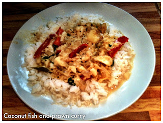 Slowcooker Coconut, Fish and Prawn Curry