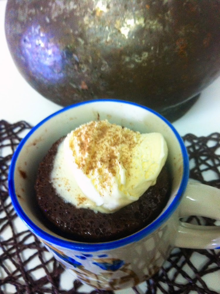 Mug cake de Nutella superfácil