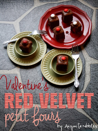 Valentine's Red Velvet Petit Fours Recipe