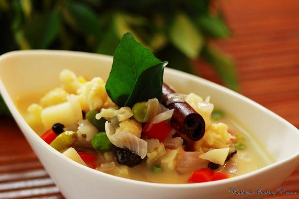 Vegetable Stew in Coconut Milk - Kerala Style