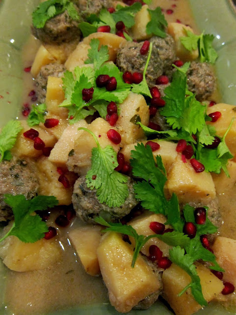 ottolenghi lamb meatballs with quince and pomegranate